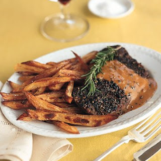 Steak au Poivre.