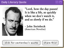 Steinbeck Fast then Slowly