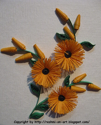 Quilling-Craft-Fringed-Sunflower