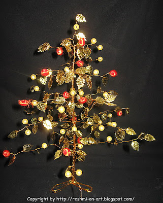 Golden-leaf-beads-tree