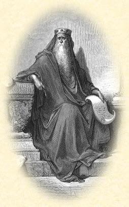 Salomón, por Gustave Doré (S. XIX). Grabado