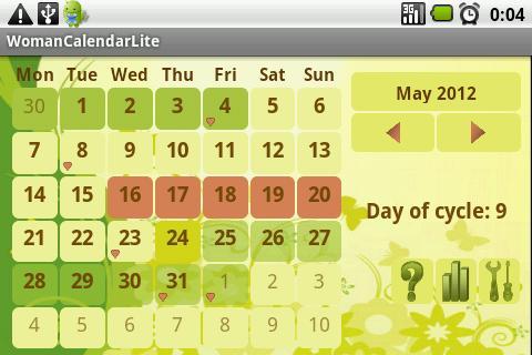 Kalendarzyk Menstruacyjny – zrzut ekranu