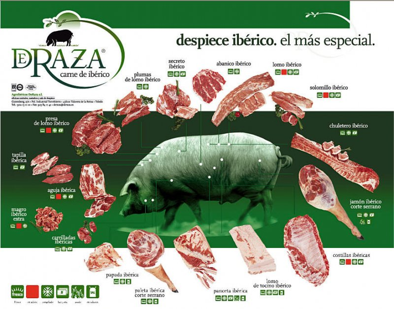 partes do porco ibérico