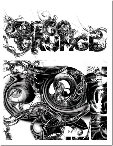 Decogrunge Type Treatment on the Behance Network