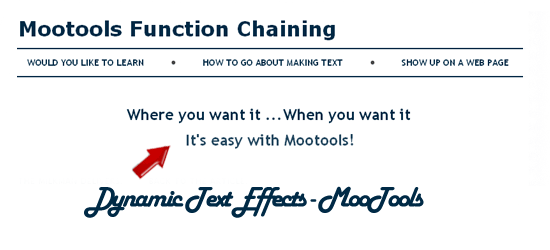 Dynamic Text Effects - MooTools