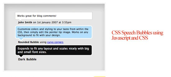 CSS Speech Bubbles using Javascript and CSS