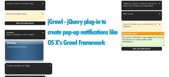 jGrowl---jQuery-plug-in