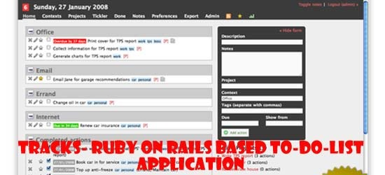 Tracks- Ruby on Rails Based To-Do-List application