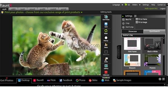 FlauntR 20 Useful free Online Image Editor