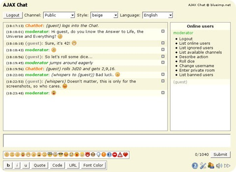 free-ajax-chat-software