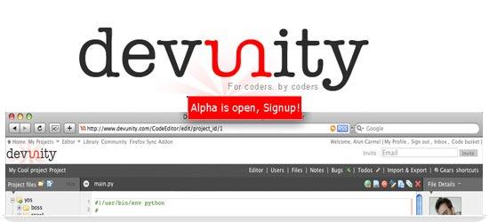 Devunity - Social collaborative coding Platform