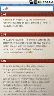Official Rules of Baseball - screenshot thumbnail