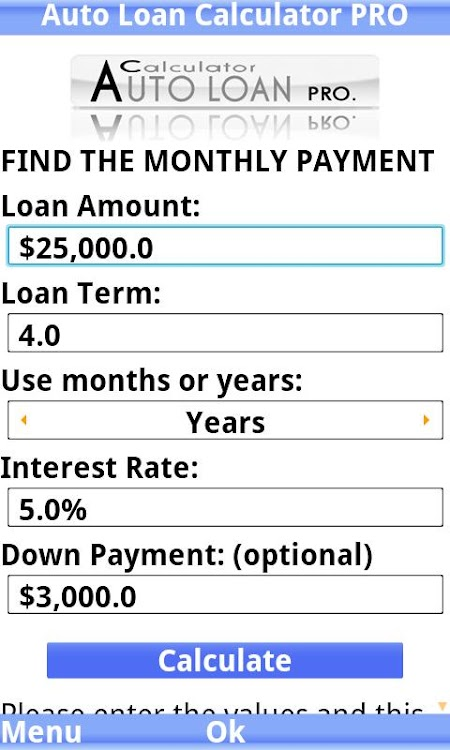 Auto Loan Calculator Pro Android Apps Appagg