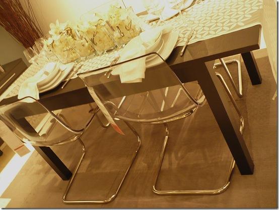 ikea acyrlic dining chairs