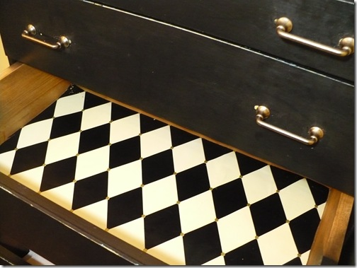 lining drawers with wrapping paper