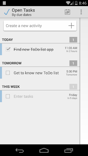 Open Tasks To-Do-List