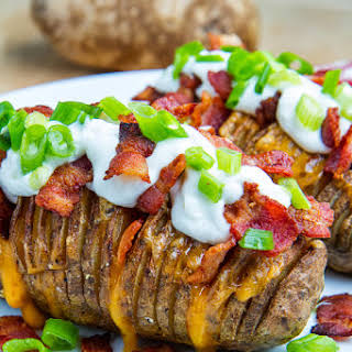Fully Loaded Hasselback Potatoes.