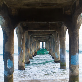 Manhattan Beach Docks by Kyle Rea - Buildings & Architecture Bridges & Suspended Structures ( best beachscape photos, kyle rea photography, relaxing and inspiring photos, manhattan beach docks, california beaches,  )