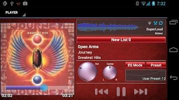 Screenshot of SuperLoud Meteor, Audio Player