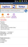 Screenshot of Çevrimdışı Sesli Sözlük ENG-TR