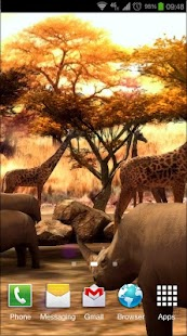 Africa 3D Pro Live Wallpaper Screenshot