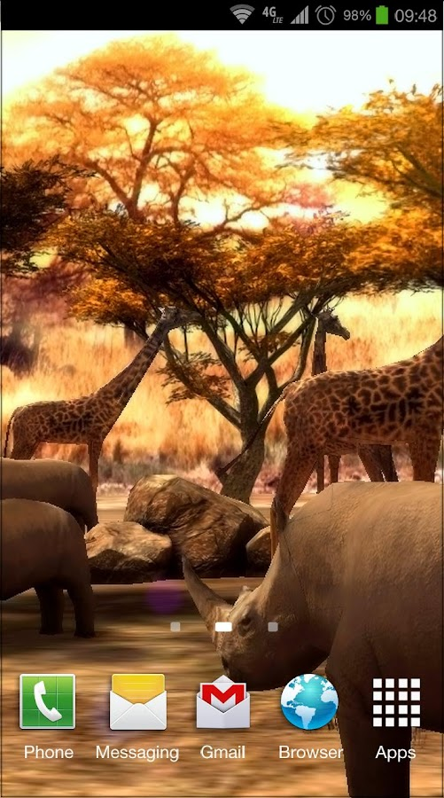 Africa 3D Pro Live Wallpaper - screenshot