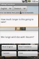 Screenshot of Free Translator, 50+ Languages