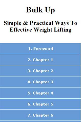 Bulk Up - Weight Lifting Guide
