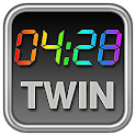 Rainbow Clock Widget (TWIN) icon