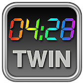 Rainbow Clock Widget (TWIN)
