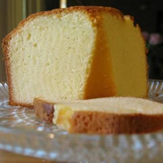 Yellow Pound Cake.