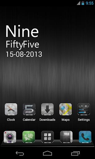 Metal Free(APEX NOVA GO THEME) 1.5.0 screenshots 2
