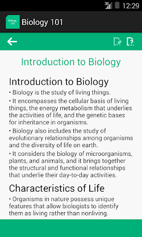 Biology 101 Screenshot