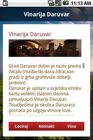 Vodič za vina - screenshot