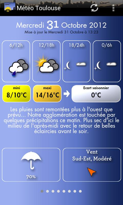 Météo Toulouse - screenshot