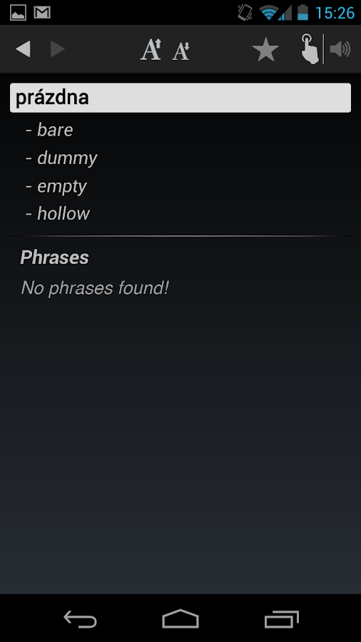 Free Dict Slovak English - screenshot