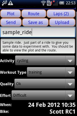 IpBike ANT+™ Bike Computer- screenshot