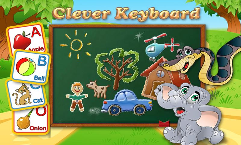Clever Keyboard: ABC Learning- screenshot
