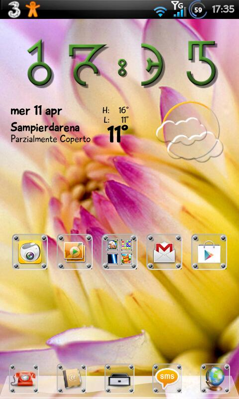 Glass Theme GO Launcher EX - screenshot