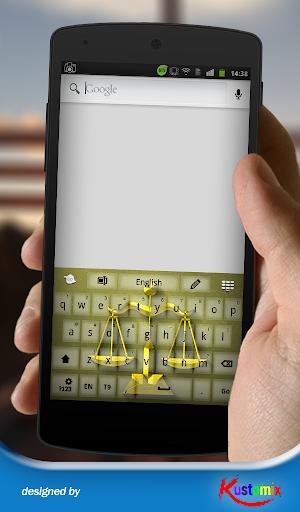 【免費個人化App】Gold Libra Keyboard-APP點子