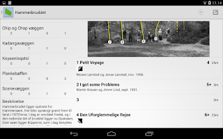 Screenshot of Klatring på Bornholm