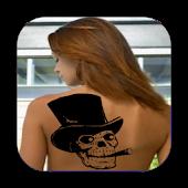 Camera Tattoo Skull