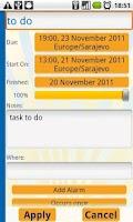 Screenshot of aCal CalDAV Client (beta)