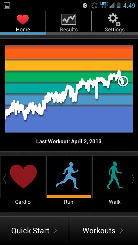 iCardio GPS Heart Rate Trainer- screenshot