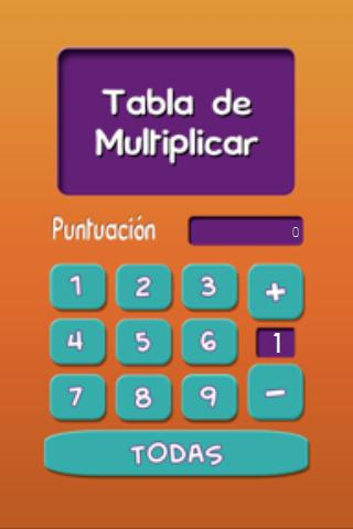 Tabla de Multiplicar- screenshot
