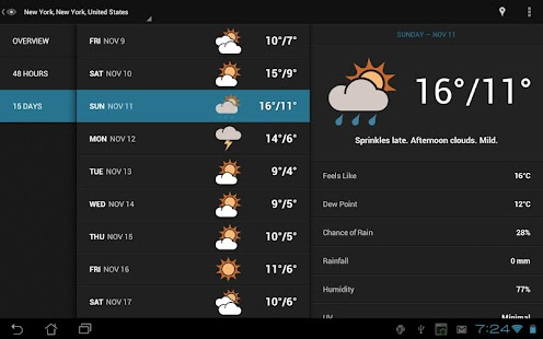 Eye In Sky Weather - Pro Key - screenshot thumbnail
