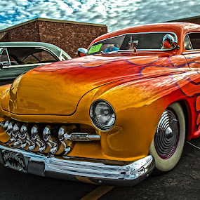 The Pharaohs Chariot by Boyd Smith - Transportation Automobiles ( classic car, white wall tires, custom grill, painted flames, custom car )