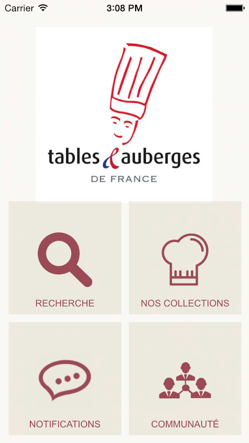 Tables et Auberges de France – Capture d'écran
