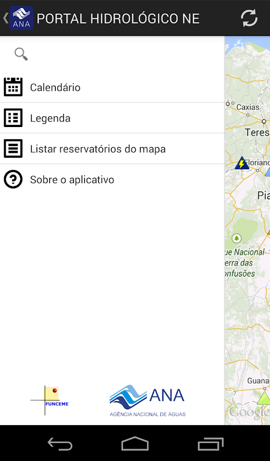 Portal Hidrológico do Nordeste- screenshot
