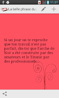 Screenshot of La Belle Phrase du Jour